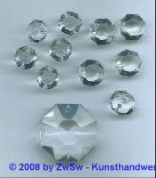 Kristallglas-Lüsterperlen, 1 Stück, Ø 34mm, in kristall