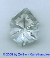 Kristallglas-Lüsterendstein, 1 Stück, 37mm x 27mm