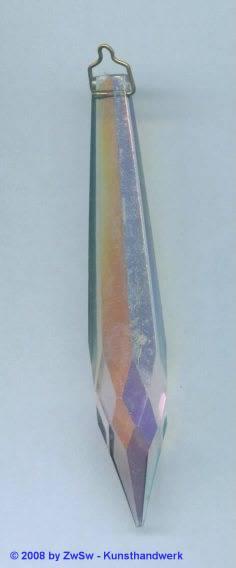 Kristallglas-Lüsterzapfen, 1 Stück, 76mm lang
