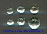 1 Strass kristall, Ø 10mm, Multifacettenschliff