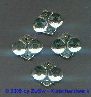 Zierstein 1 Stück 18mm x 15mm kristall