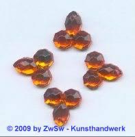 Zierstein 1 Stück 19mm x 19mm orange