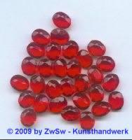 Strassstein, rot unverspiegelt, 1 Stück, 10mm x 8mm