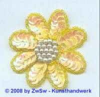 Blume gelb, 1 Stück