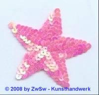 Stern rosa/AB, 8cm x 7cm, 1 Stück
