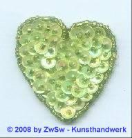 Herz zartgrün/AB, 4,5cm x 4,5cm, 1 Stück