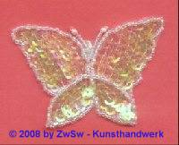 Schmetterling zartgrün/rosa/AB, 8,5cm x 5,5cm, 1 Stück