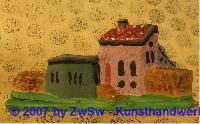 Häuserkulisse klein, patiniert, 2,5cm x 7cm