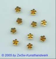 1 Strass/Blümchenform 7mm (honiggelb)