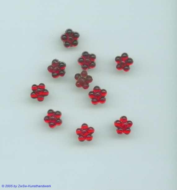 1 Strass/Blümchenform 7mm (rot)