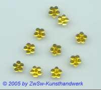 1 Strass/Blümchenform 7mm (zitronengelb)