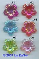 Hibiskusblüte magenta/AB, 1 Stück