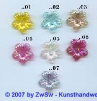 kleine Hibiskusblüte gelb/AB, 1 Stück