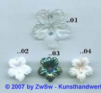 Hibiskusblüte kristall, 1 Stück