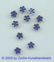 1 Strass/Blümchenform 7mm (blau)