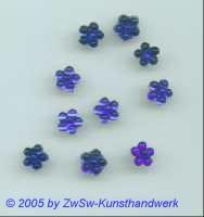 1 Strass/Blümchenform 7mm (dunkelblau)