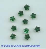 1 Strass/Blümchenform 7mm (dunkelgrün)
