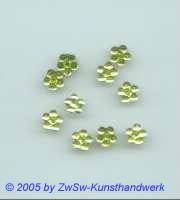 1 Strass/Blümchenform 7mm (gelbgrün)