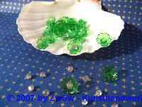 Acrylglasblumen grün 10 Stück