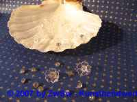 Acrylglasblumen kristall 10 Stück