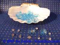 Acrylglasblumen hellblau 10 Stück