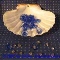 Acrylglasblumen dunkelblau 10 Stück