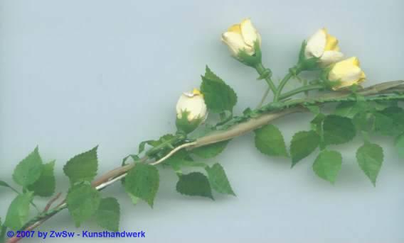 Mini-Rosenranke cremfarben 50 cm