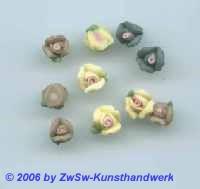Miniaturblume 1 Stück (gelblich)