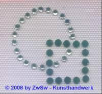 Bügelmotiv Kreis mit Quadrat