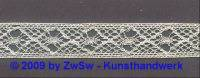 Klöppelborte silber, 12 mm 1 Meter