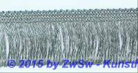 Seidenfranse silber, 1 Meter