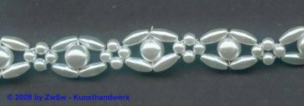 Perlenborte, 50 Zentimeter, 10mm breit