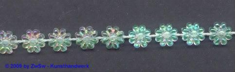 Blumenperlen-Borte, 50 Zentimeter, 8mm breit