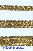 Brokatborte gold, 10mm, 1 Meter