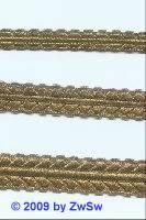 Brokatborte altgold, 10mm, 1 Meter