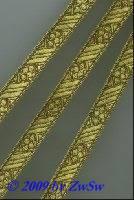 Borte in altgold 10 mm breit, 1 Meter