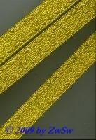 Brokatborte in gold 16 mm breit, 1 Meter