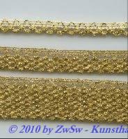 Lurexzackenborte 10mm in gold