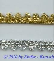 Lurexspitze 17mm in gold