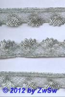Muschelspitze silber,  1 Meter
