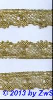 Muschelspitze gold  1 Meter