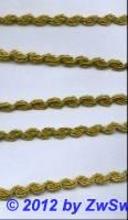 Brokatborte gold, 8mm,  1 Meter
