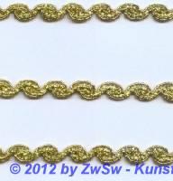 Lurexborte gold 9mm,  1 Meter