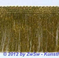 Brokatfransenborte gold 5cm  1 Meter