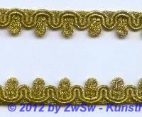 Bokatspitzenborte gold 12mm,  1 Meter