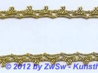 Kl�ppelspitze gold 8mm,  1 Meter