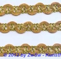Brokatborte gold 15mm,  1 Meter