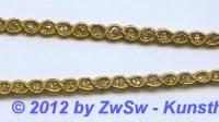 Seidenborte gold 4mm,  1 Meter
