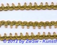 Brokatspitzenborte gold 10mm,  1 Meter