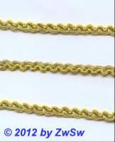 Brokatborte in gold 5mm,  1 Meter
